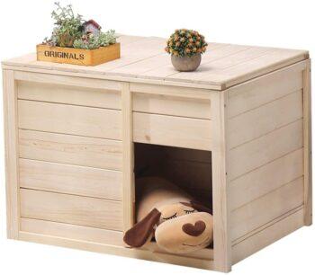 casitas de madera para perros pequeños